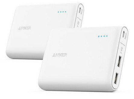 2er Pack Anker PowerCore 13000 Powerbank für 35,90€ (statt 60€)