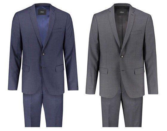 s.Oliver Black Label Herren Anzug Padua in Regular Fit für 99,90€ (statt 137€)