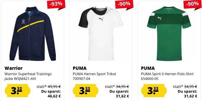 Geht noch! 🔥 SportSpar Mega Sale mit sehr vielen Produkten für je nur 3,33€ + VSK (auch Jacken)