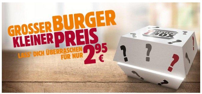 BurgerKing Mystery Box: Überraschungs Burger für 2,99€ z.B. Bacon King, BigKing XXL, Double Steakhouse