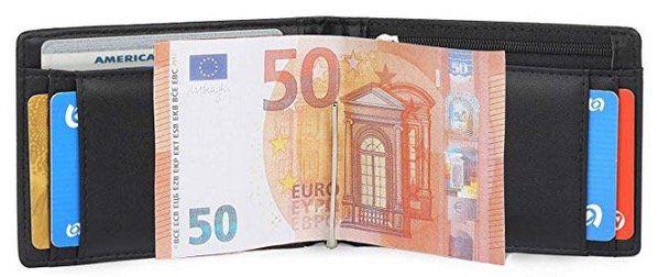 Vemingo Herren Geldbeutel mit Geldklammer, Münzfach und RFID Blocker für 9,50€ (statt 19€)