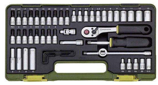 Proxxon 23280 1/4 (6.3 mm) 50 teiliger Steckschlüsselsatz für 43,85€ (statt 55€)