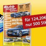 Tipp! auto motor und sport Jahresabo für 119,20€ + bis zu 120€ Prämie als Gutschein