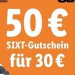 50€ Sixt Gutschein für 30€ – gilt nur in Deutschland ab 3 Tage Mietlänge
