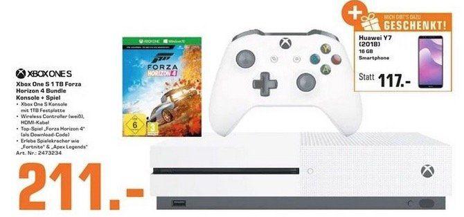 🔥 Xbox One S 1TB mit Forza Horizon 4 + Huawei Y7 (2018) 16GB nur 215,99€ (statt 325€)