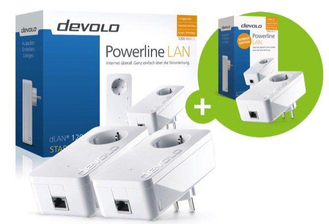 Devolo dLAN 1200+ Netzwerk Starter Kit (3 Adapter) für 100,99€ (statt 146€)