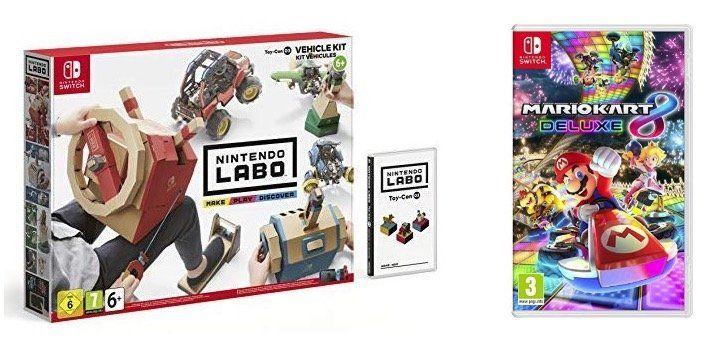 Nintendo Labo Fahrzeug Kit + Mario Kart 8 Deluxe für 64,42€ (statt 100€)