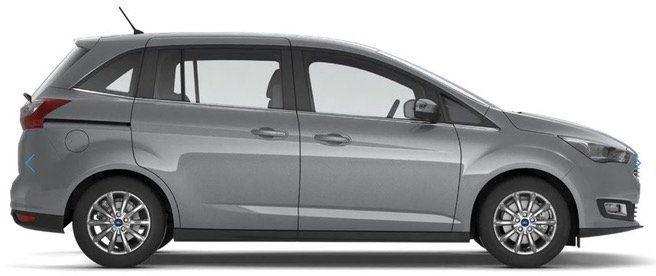 Privat  und Gewerbe Leasing: Ford Grand C Max Titanium 125 PS auf 36 Monate + 10.000km/Jahr für 179€ mtl. brutto