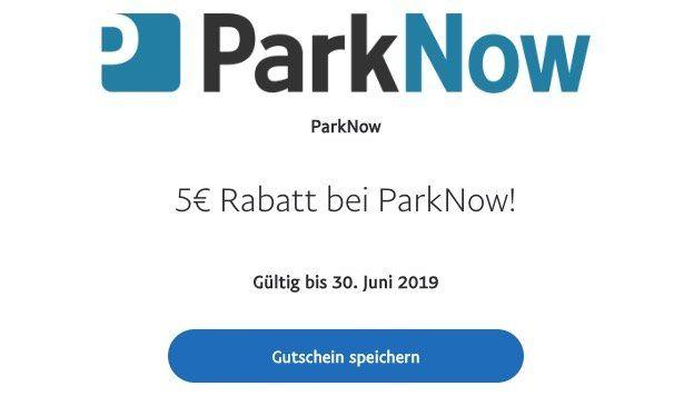 5€ Rabatt bei ParkNow dank Paypal Aktion
