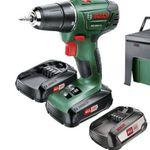 Bosch PSR 1800 LI-2 Akkubohrschrauber + 3 x Akkus + Ladegerät + Workbox + adidas Trikot (Größe L) für 133€ (statt 179€)