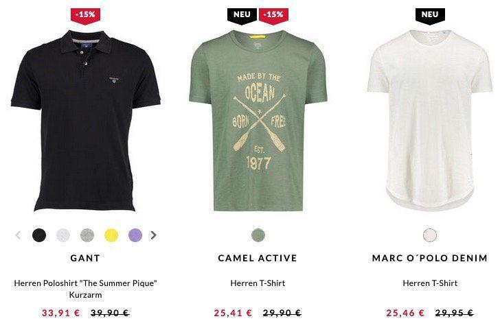 Engelhorn 15% Marken Herren Sale z.B. Lacoste oder GANT Poloshirts für 33,91€