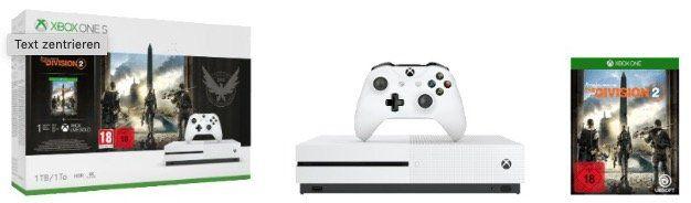 Saturn Weekend Deals: z.B. Xbox One S 1TB Division 2 Bundle + 32 UHD Monitor für 449€ (statt 546€)