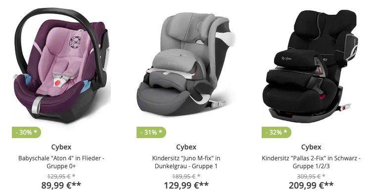 Cybex Sale bei limango   z.B.  Cybex Kindersitz Pallas S Fix in Rot für 164,94€ (statt 242€)