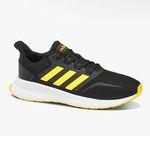 adidas Runfalcon Sneaker in Schwarz/Gelb für 29,90€