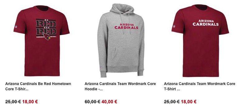 NFL Shop mit 30% Rabatt auf ausgewählte Produkte   z.B. Oakland Raiders Shirt für 18€ (statt 25€)