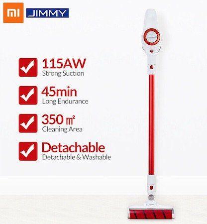 Xiaomi JIMMY JV51 Akku Staubsauger mit direkt angetriebener Bürste für 136,79€   Versand aus DE