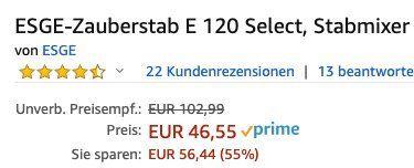 Unold Zauberstab E 120 Select Stabmixer für 46,55€ (statt 82€)
