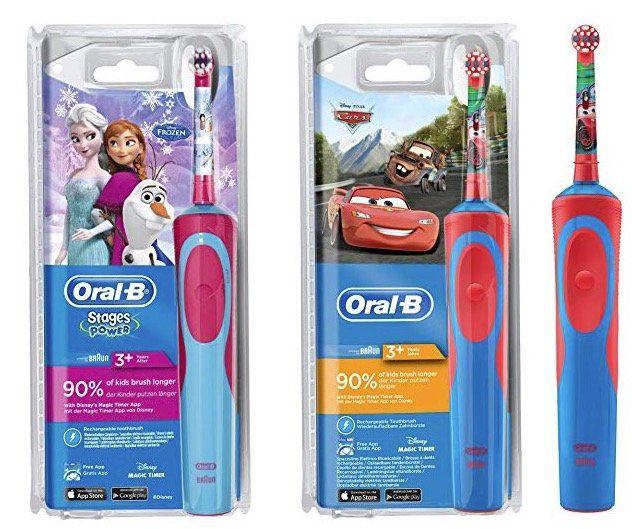 Oral B Kinder Zahnbürste im Cars oder Frozen Eiskönigin Design ab 10,95€ (statt 16€)