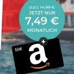 o2 Allnet-Flat von Ay Yildiz mit 4,5GB LTE für 7,49€ mtl. + 50€ Amazon Gutschein