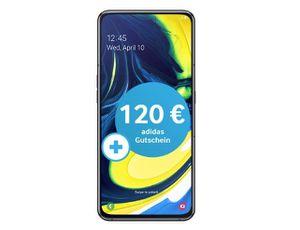 Samsung Galaxy A80 für 79€ + o2 Free Tarif mit 10GB LTE für 29,99€ mtl. + 120€ adidas Gutschein