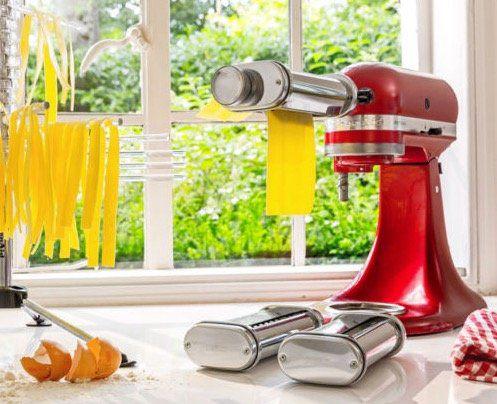 KitchenAid 5KSMPRA   3 teiliger Nudelvorsatz mit Reinigungsbürste für 111€ (statt 129€)