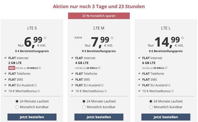 o2 Allnet Flat von PremiumSIM mit 4GB LTE für nur 7,99€ mtl. + monatlich kündbar