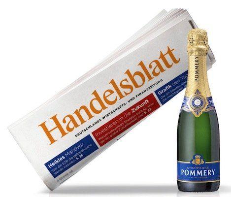 4 Wochen Handelsblatt Print für 19,99€ + 0,2 Liter Champagner Brut Royal (Wert 12€)