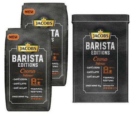 2kg Jacobs Barista Editions Kaffee ganze Bohne + Dose für 19,99€
