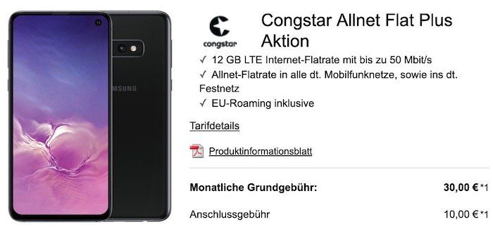 Knaller? Telekom Flat mit 12GB LTE von Congstar für eff. 15,63€ mtl. mit etwas Aufwand