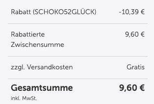 21er Pack Glücksmoment Proteinriegel Schoko Brownie (je 45g) für 9,60€ (statt 30€)