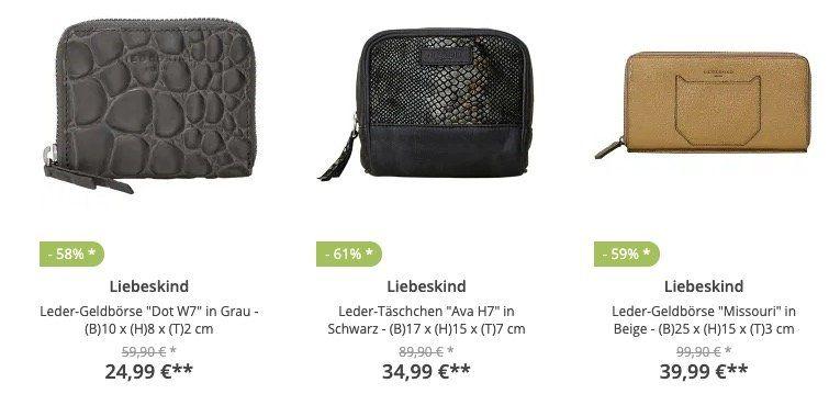 Knaller! Liebeskind Leder Geldbörse Missouri für 43,95€ (statt 100€) und weitere Deals im Sale bei limango