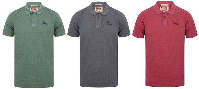 Tokyo Laundry Don Slub Pique Cotton Herren Poloshirts für je 8,99€ (statt 14€)   nur S, M und L