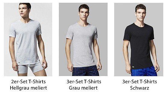 Lacoste Shirts, Pyjama und Jogginghosen bei vente privee   z.B. 3er Set T Shirts für 14,99€ + VSK