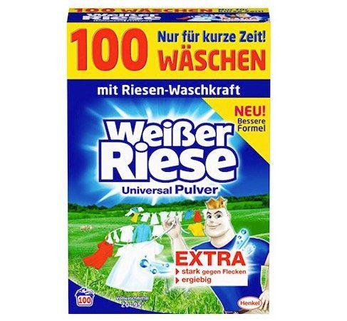 Weißer Riese Universal Pulver Waschmittel für 100 Waschladungen ab 9,99€ (statt 19€)