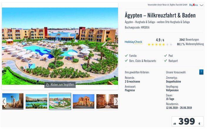 15 Tage 5* Nilkreuzfahrt mit Vollpension + Strandurlaub inkl. All inkl., Flüge, Transfers ab 399€