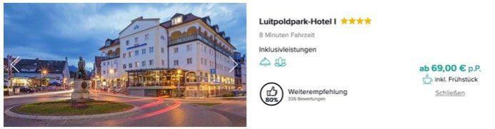 Schloss Neuschwanstein Eintritt & Führung inkl. ÜN und Frühstück im 4* Sterne Hotel ab 69€