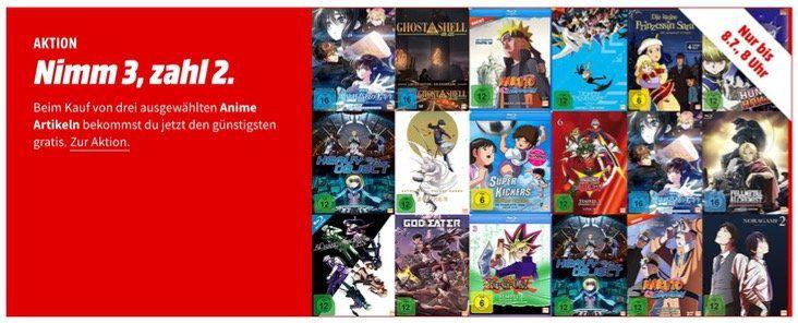 Anime Aktion   Nimm 3, Zahl 2 bei MediaMarkt