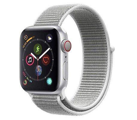 Apple Watch Series 4 LTE 44mm in Silber mit Sport Loop für 377,33€ (statt 393€)
