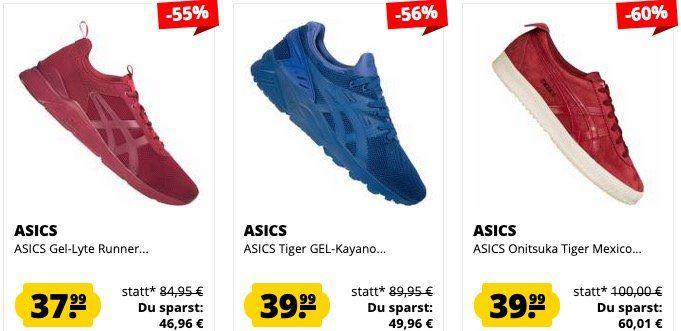 SportSpar ASICS Sneaker Sale in Restgrößen ab 21,99€ z.B. ASICS Tiger Gel Kayano für 39,99€ (statt 46€)