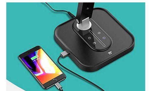 TaoTronics LED Schreibtischlampe mit USB Anschluss für 16,99€ (statt 26€)
