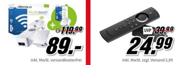 Media Markt Mega Familien Sale   z.B. Amazon Fire TV Stick ab 24,99€