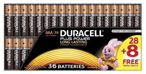 36er Pack Duracell Plus Power AAA Batterien für 16,99€ (statt 22€)
