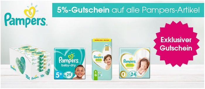 Babymarkt: Bis 26% Rabatt auf Pampers Baby Dry Boxen + 5% Extra Rabatt   z.B. 2x Baby Dry 4 für 64,96€ (statt 72€)