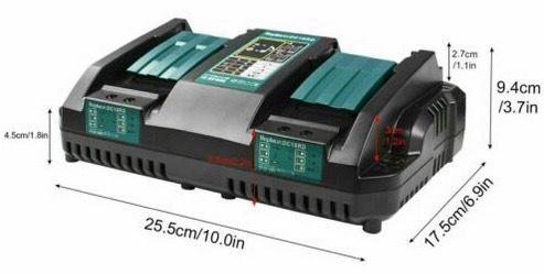 Makita DC18RD 2 fach Schnellladegerät für 33,99€ (statt 62€)