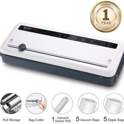 Bonsenkitchen Vakuumiergerät für trockene und frische Lebensmittel mit Cutter für 23,99€ (statt 55€)