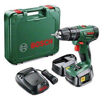 Bosch PSB 1800 LI 2 Akku Bohrschrauber 18V + 2 Akkus + Koffer für 76,51€ (statt 94€)