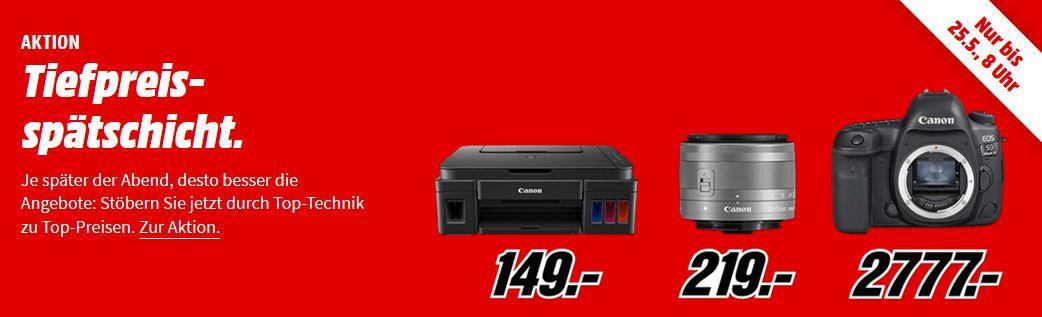 Media Markt CANON Tiefpreisspätschicht   günstige Kameras, Objektive, Drucker und  Foto Zubehör