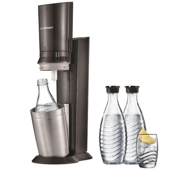 SodaStream Crystal 2.0 Wassersprudler Set mit 3 Glaskaraffen + 6x Leonardo Event Stapelbecher ab 111€ (statt 144€)