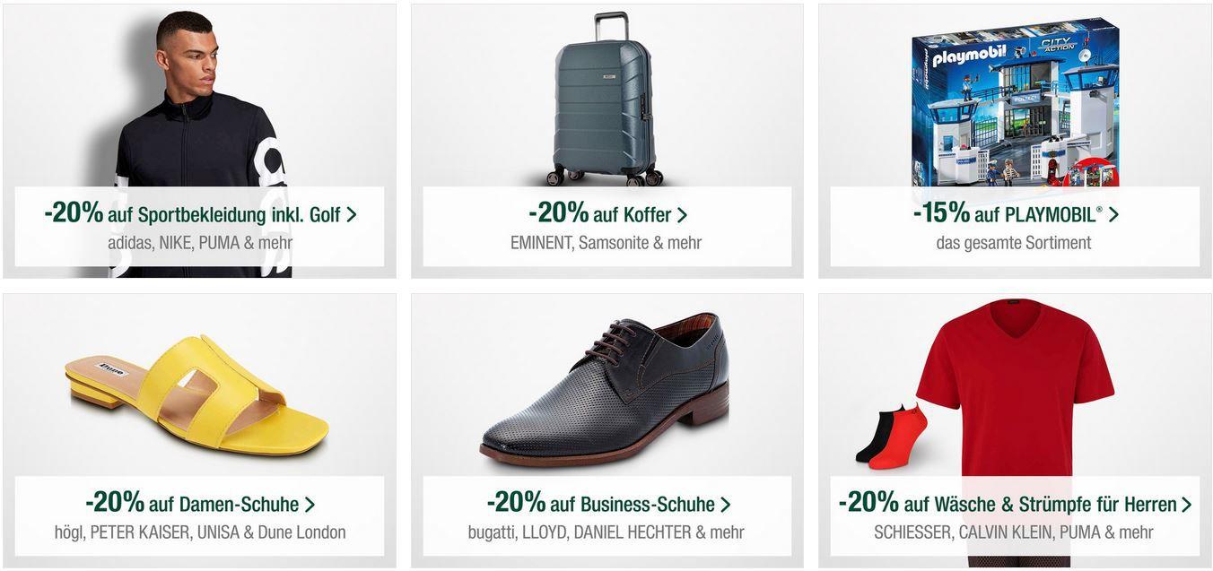 Galeria Kaufhof Sonntag: z.B. 15% Rabatt auf Playmobil, ausgewählte Spirituosen   20% Rabatt auf Fashion & Koffer uvam.