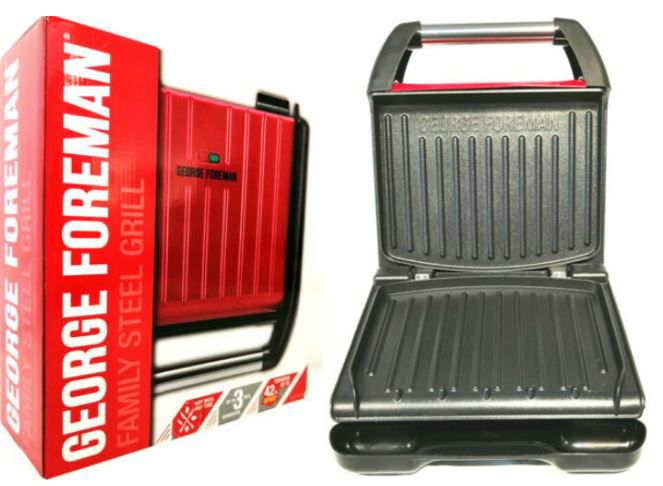 George Foreman Compact Fitnessgrill Rot (by Russel Hobbs) für nur 19,99€ (statt 33€)